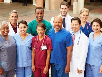 Outdoor Portrait Of Medical Team